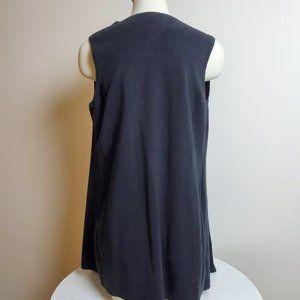 Calvin Klein Jackets & Coats - Calvin Klein Faux Suede Black Open Vest Medium